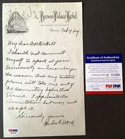 HUBERT WORK Signed 1929 Brown Palace Hotel Letter Postmaster General PSA/DNA COA
