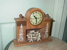 United Self Starting Fireplace Shelf Mantel Clock