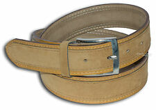 BELT MAN WOMAN SUEDE SYNTHETIC DOUBLE SOLID COLOUR YELLOW OCRA 722