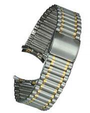 De Acero Inoxidable Reloj Pulsera Bicolor Rundanschluss 17MM Correa Repuesto