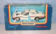 ~Matchbox Superkings ~K153 ~ Jaguar Police Car ~Model~ 1-43 Scale ~Boxed ~VGC~