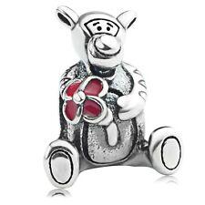 S925 sterling silver Cartoon Park Tigger Enamel European Charm Bead Fit Bracelet