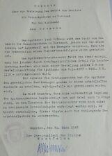 Oberpräsident Rudolf AMELUNXEN: Signiertes Apotheker-Zeugnis MÜNSTER 1946