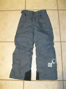 Columbia Bugaboo Snow Pants  Size 8 Kids Youth Gray Omni-Tech Waterproof