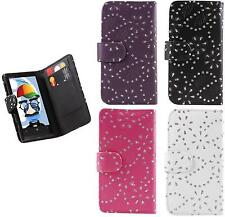 SAMSUNG i8190 GALAXY S3 MINI LEATHER CASE COVER FLIP POUCH WALLET DIAMOND S111