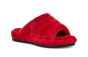 $100 MENS UGG FLUFF YOU SLIPPERS SIZE 9 US  SAMBA RED