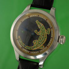 Vintage Girard-Perregaux Wristwatch, Dial with Gems, Hand Engraved Movement