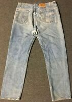 Vtg Levi's 505 Orange Tab Jeans 38/32 Faded Distressed Grunge 80s 90s USA Biker