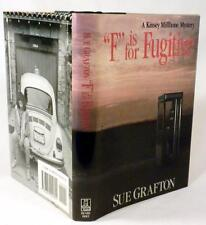 """""""F"""" IS FOR FUGITIVE, Sue Grafton, SIGNED, 1st Edition / 1st Printing, 1989"""