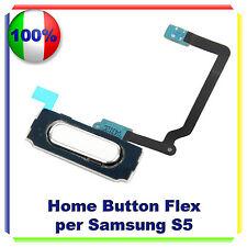 RICAMBIO HOME BUTTON FLEX CABLE PULSANTE TASTO BIANCO WHITE Samsung Galaxy S5