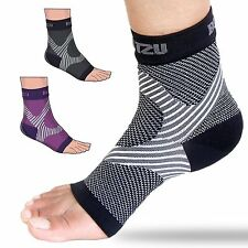 BLITZU Plantar Fasciitis Sleeves Best Foot Care Open Toe Medical Compression ...