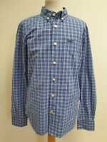 FF57 MENS SUPERDRY NEW YORK BUTTON DOWN BLUE WHITE CHECK SLIM FIT SHIRT UK XL