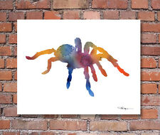 Tarantula Abstract Watercolor Painting Art Print by Artist DJ Rogers
