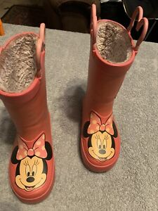 Western Chief pink Minnie Mouse rain boots.  Youth size 7/8
