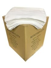 "240 Microfiber White 16""x16"" Cleaning Detailing Cloth Towel Auto Car Rag 300GSM"