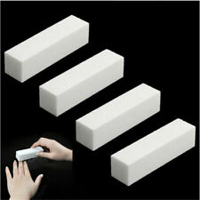 5X White Acrylic Nail Tips Buffer Buffing Sanding Block Files Nail Art Care Tool