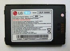 Akku Original LG Lp-Ahmm VX9200 enV3 3.7V 950mAh