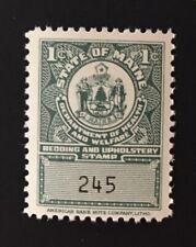Maine State Revenue - 1 cent Bedding Tax #BD1 - sound - MNH - ME