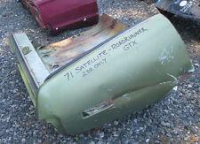 71 Plymouth SATELLITE - ROADRUNNER - GTX 2 door RH right QUARTER REAR CORNER