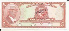 HAITI 5 GOURDES 1919  P 202. SPECIMEN. VERY RARE. UNC CONDITION. 5RW 28SET