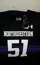 cf92e3ecfe5 Under armour northwestern wildcats  51 ncaa football jersey NWT size 4XL men