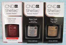 CND Shellac UV LED Gel Power Polish 3-pc Set DECADENCE BASE TOP COAT Auth NIB