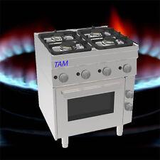 4 Flammen Gasherd mit Elektro Backofen  Snack TAM-SGBE70 D1