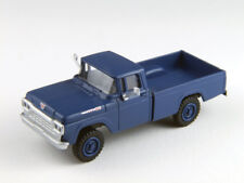 HO Scale Pickup Truck vehicle - 4x4 Blue