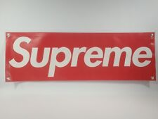 "Supreme Banner 1'x3' Skate Sign 12""x36""  13 OZ. READY TO HANG (box logo shirt)"