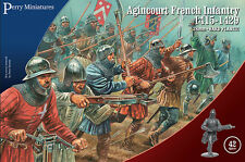 AGINCOURT FRENCH INFANTRY - PERRY - 28MM WARGAMING - SENT FIRST CLASS SAME DAY!