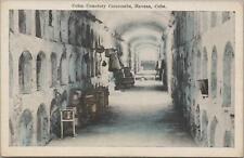 Postcard Colon Cemetery Catacombs Havana Cuba
