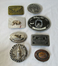 8 Metal Buckles Belt Buckles, Bottle Opener and Horse's and More
