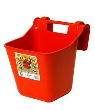 LITTLE GIANT HOOK OVER FEEDER Portable Durable Molded in Bracket 12Qt. Red