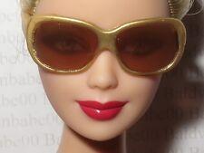 ACCESSORY SUNGLASSES  ~BARBIE MODEL MUSE BASICS GOLD GLASSES DOLL ACCESSORY