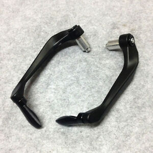 "Black CNC 7/8"" Motorcycle Bar Mount Brake Clutch Lever Protector Guard Universal"