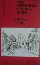 Old Ordnance Survey Map of Uxbridge 1913