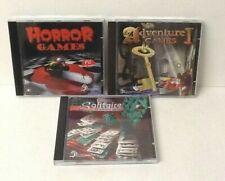 PC GAMES BUNDLE - HORROR GAMES - ADVENTURE GAMES - SOLITAIRE - WIN XP VISTA