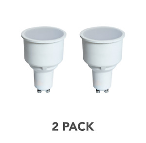 2x Crompton Lamps LED GU10 Spotlight 5.5W Long Barrel Neck 75mm Warm White, 50W