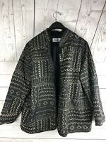 Alfred Dunner Ladies Size 14  Open Front Black Jacket Blazer Fully Lined