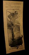 [CARICATURE GASTRONOMIE CUISINE] BAUDRIER (P.) - Gravure : Banquet du patron.