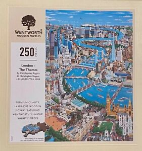 AUTHENTIC WENTWORTH WOODEN PUZZLE - LONDON THE THAMES - 250 PIECES