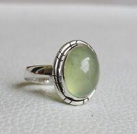 Prehnite Ring 925 Sterling Silver Ring Size 7 3/4 US Gemstone Ring R0178