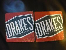 10 of DRAKE'S brewing company's beer coaster coasters, DRAKE'S Barrel House