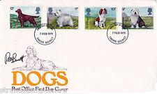 1979 Dogs- Exeter FDI - Signed by PETER BARRETT (Stamp Designer)!