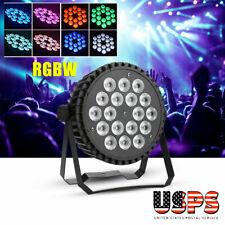 200W 18 Led 8Ch Uv/Rgb Par Light Dmx Stage Lighting Dj Disco Wedding Party Bar