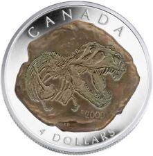 """Canada 2009  $4 Dinosaur Collection Tyrannosaurus Rex Pure Silver Coin """"3"""""""