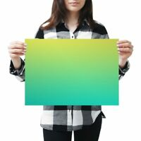 A3 - Green Blue Ombre Yellow Fun Poster 42X29.7cm280gsm #2681