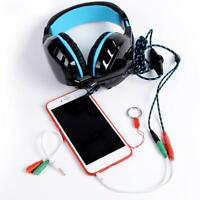 Y-Adapter AUX Klinke Kabel Verteiler Audio 3,5mm Klinken Stecker zu 2x Buch A7T7