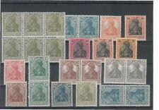 Ungeprüfte Briefmarken aus dem deutschen Reich (1900-1918) mit Falz