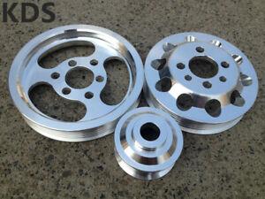 Lightweight pulley FOR 99-05 VW Golf GTI Jetta Bettle 1.8T 2.0L 3PCS
